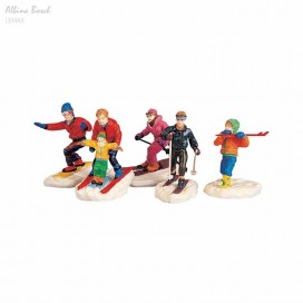 LEMAX WINTER FUN FIGURINES SET OF 5
