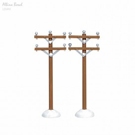 LEMAX TELEPHONE POLES, SET OF 2