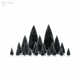 LEMAX ASSORTIED PINE TREES SET 21 PC