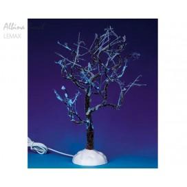 LEMAX LIGHTED ICE GLAZED TREE, BLUE