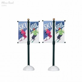 LEMAX  STREET POLE BANNER, SET OF 2