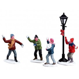 SNOWBALL FIGHT SET OF 4