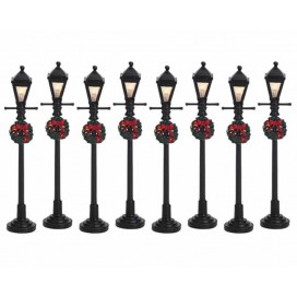 GAS LANTERN STREET LAMP SET 8