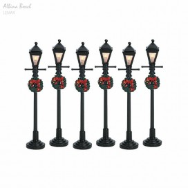 LEMAX GAS LANTERN STREET LAMP SET 6