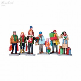 LEMAX HOLIDAY SHOPPERS SET OF 6
