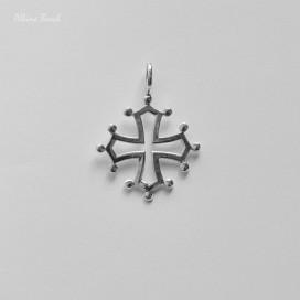 """Colgante """"Cruz Occitana"""" de plata (3,6 x 2,7cm)"""