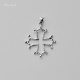 """Colgante """"Cruz Occitana"""" de plata (5 x 3,8cm)"""