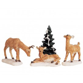 DAD AND FAWNS SET OF 4