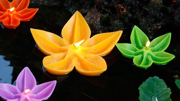 espelma-flor-flotant