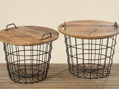 Venta de cestos fabricados en teka y hierro, muy decorativos y prácticos para tu hogar. Encuéntralos en Vielha, Valle de Aran