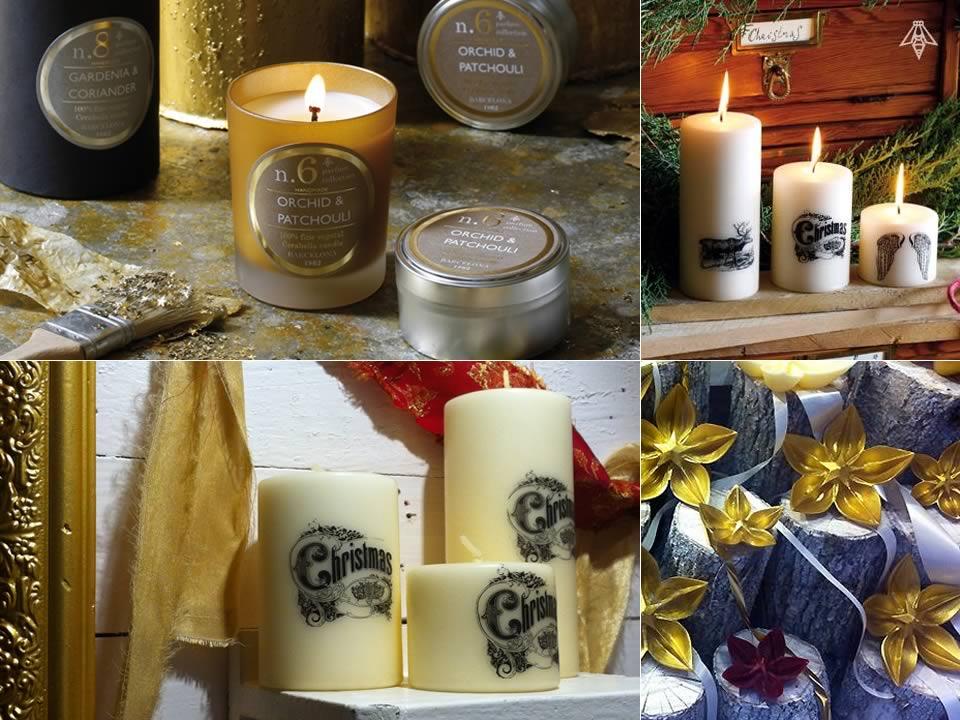 Ideas de regalo para Navidad y  Reyes. Velas para fechas especiales