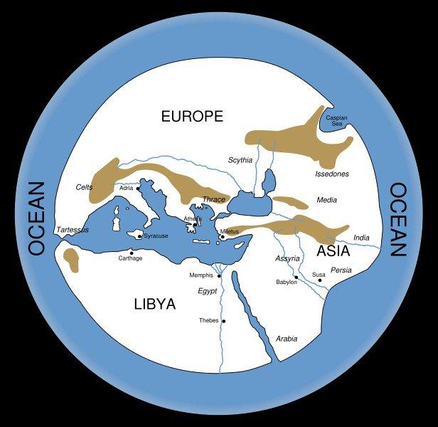 Mapa de Hecateo